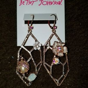 Betsey Johnson Flutterbye Openwork Earrings